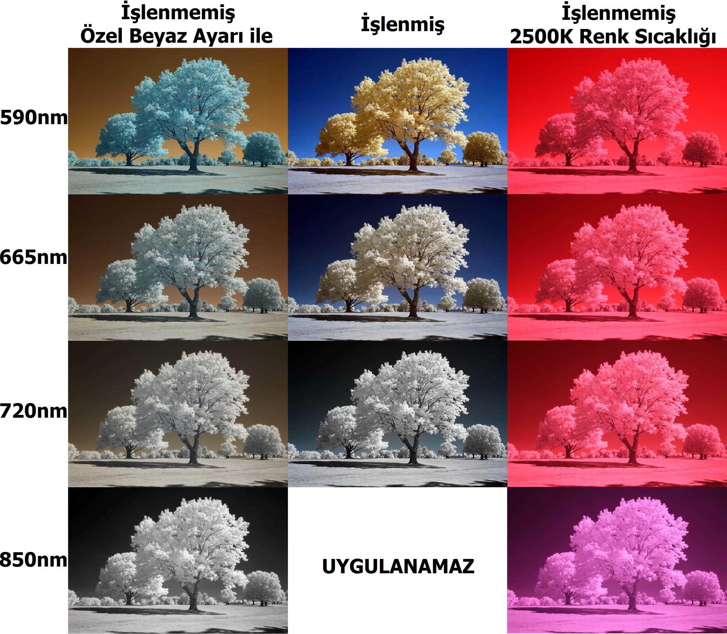 kızılötesi fotoğrafçılıkta filtre seçimi