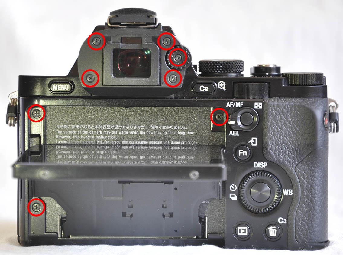 Sony A7R lcd ekran