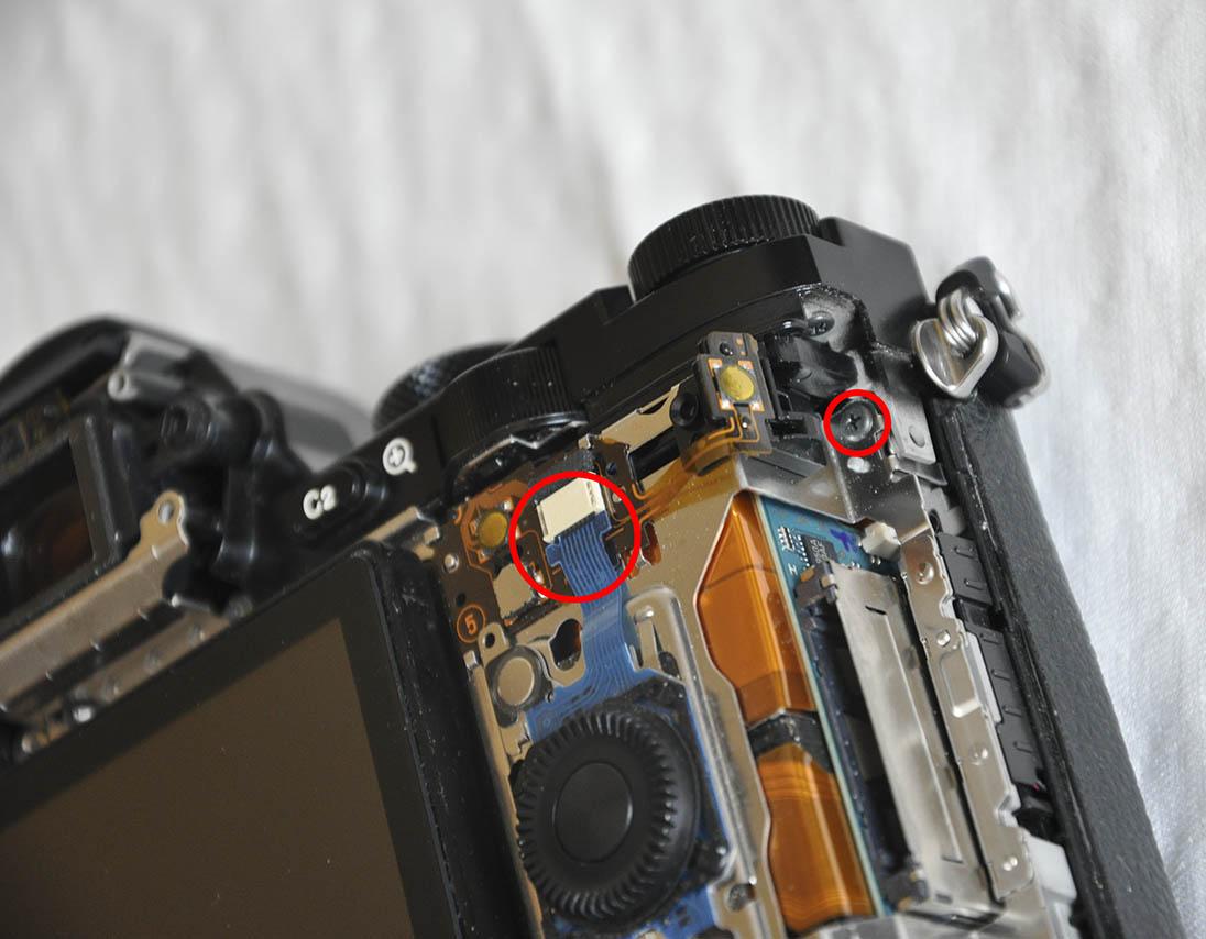 Sony A7R ayar tekerleği